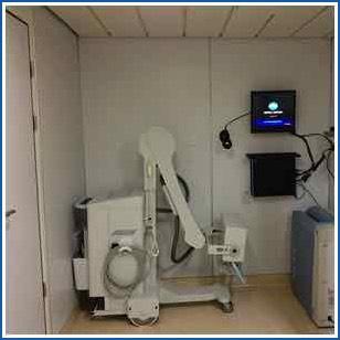 Installazione portatile per radiografia e sistema CR su una nave da crociera